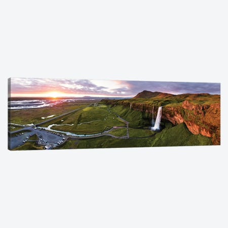 Midnight Sunset, Iceland I Canvas Print #TEO1085} by Matteo Colombo Canvas Wall Art