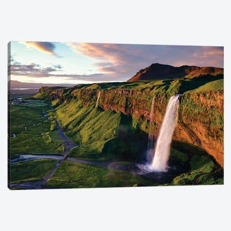 Seljalandsfoss Waterfall, Iceland Canvas Print #TEO1087} by Matteo Colombo Canvas Art