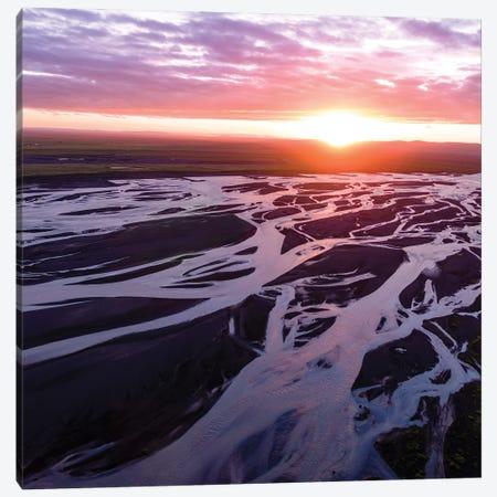 Midnight Sunset, Iceland II Canvas Print #TEO1088} by Matteo Colombo Canvas Art Print