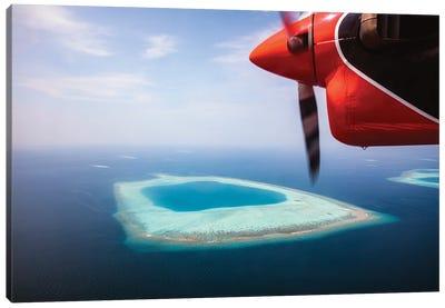 Flying Over Maldives Canvas Art Print
