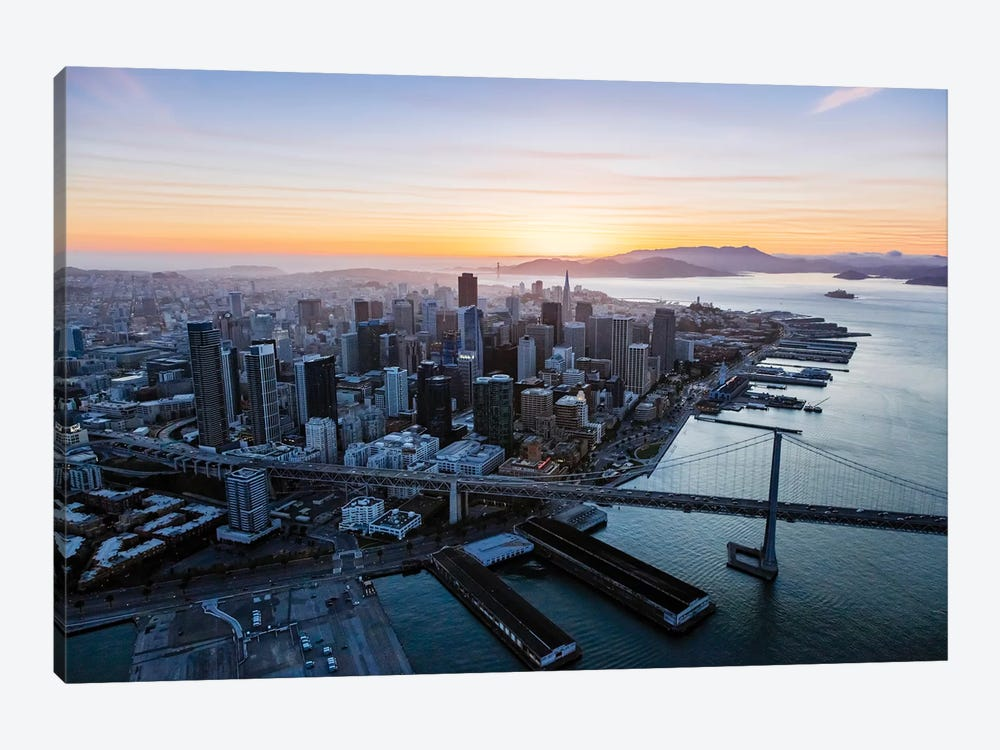 Aerial Of Downtown At Sunset, San Francisco by Matteo Colombo 1-piece Art Print