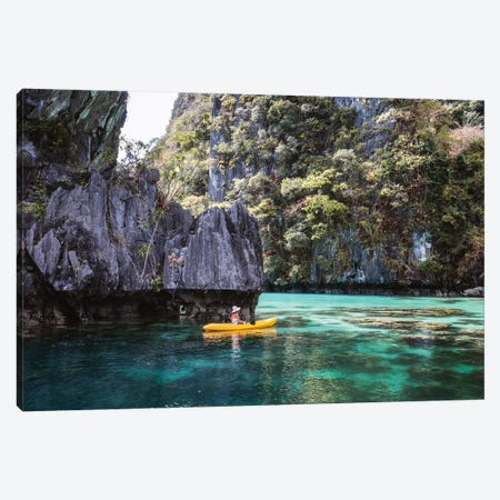 Kayak In The Lagoon, Philippines Canvas Print #TEO1097} by Matteo Colombo Canvas Art Print