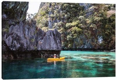 Kayak In The Lagoon, Philippines Canvas Art Print