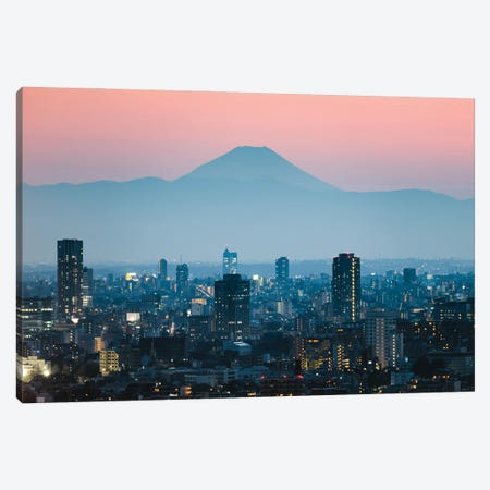 Sunset Over Fuji, Japan Canvas Print #TEO1099} by Matteo Colombo Canvas Art