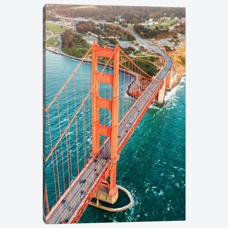 Aerial Of Golden Gate Bridge, San Francisco Canvas Print #TEO109} by Matteo Colombo Art Print