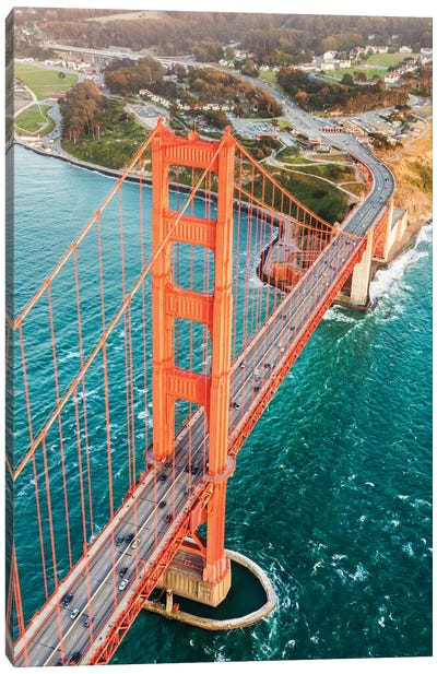 Aerial Of Golden Gate Bridge, San Francisco Canvas Art Print