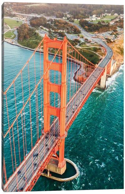 Aerial Of Golden Gate Bridge, San Francisco Canvas Art Print