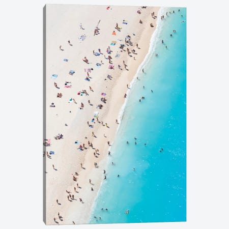 Aerial View Of Myrtos Beach VIII, Cephalonia, Ionian Islands, Greece Canvas Print #TEO10} by Matteo Colombo Canvas Print