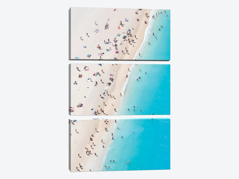 Aerial View Of Myrtos Beach VIII, Cephalonia, Ionian Islands, Greece by Matteo Colombo 3-piece Art Print