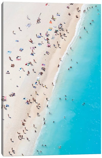 Aerial View Of Myrtos Beach VIII, Cephalonia, Ionian Islands, Greece Canvas Art Print