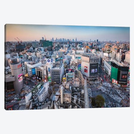 First Light Over Tokyo, Japan Canvas Print #TEO1103} by Matteo Colombo Canvas Art