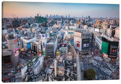 First Light Over Tokyo, Japan Canvas Art Print