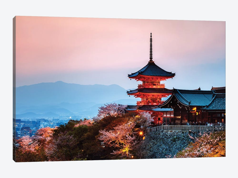 Sunset Over The Temple, Japan by Matteo Colombo 1-piece Canvas Wall Art