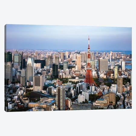Tokyo Skyline I Canvas Print #TEO1112} by Matteo Colombo Canvas Print