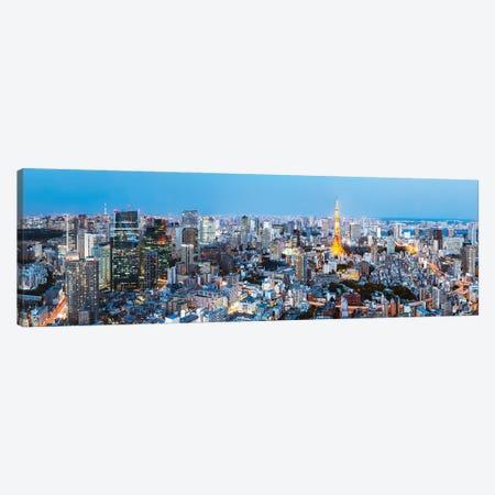 Tokyo Skyline II Canvas Print #TEO1113} by Matteo Colombo Art Print