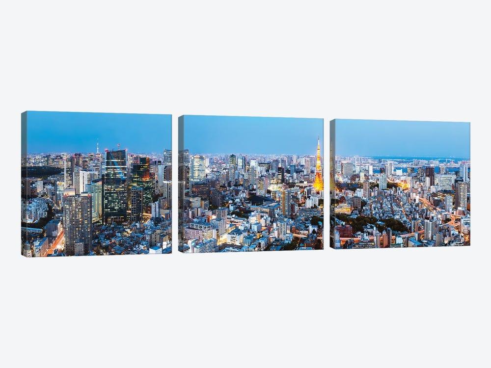 Tokyo Skyline II by Matteo Colombo 3-piece Canvas Artwork