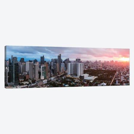 Makati Skyline, Manila Canvas Print #TEO1116} by Matteo Colombo Canvas Art