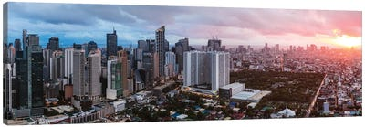 Makati Skyline, Manila Canvas Art Print