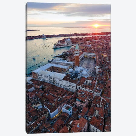 Sunset In Venice, Italy I Canvas Print #TEO1126} by Matteo Colombo Canvas Art Print