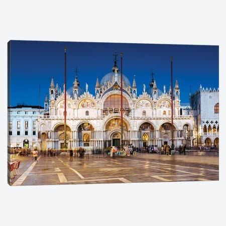 San Marco At Night, Venice Canvas Print #TEO1128} by Matteo Colombo Canvas Art