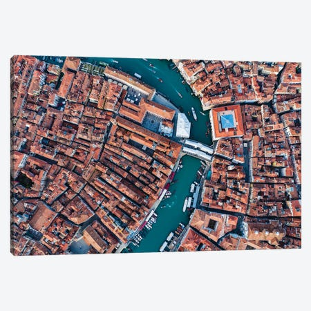 Rialto From Above, Venice Canvas Print #TEO1129} by Matteo Colombo Canvas Art
