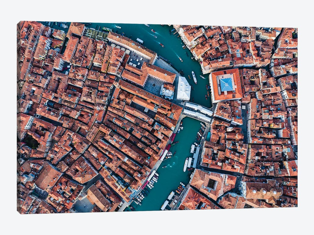 Rialto From Above, Venice by Matteo Colombo 1-piece Canvas Art Print
