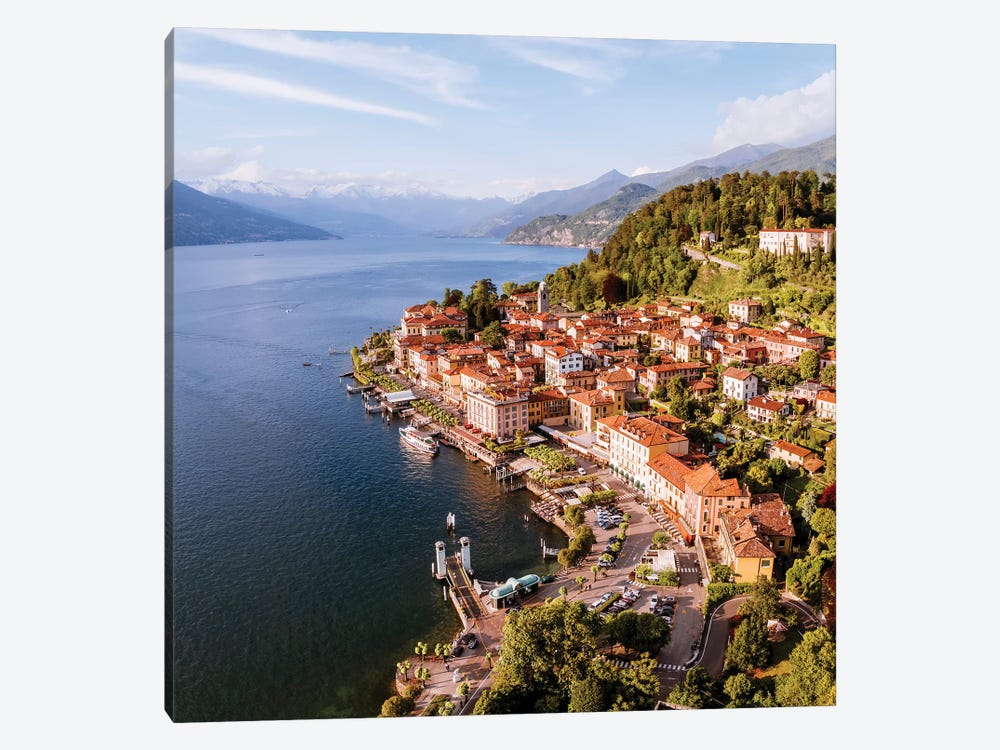 Aerial View Of Bellagio On Lake Como, Italy by Matteo Colombo 1-piece Canvas Art