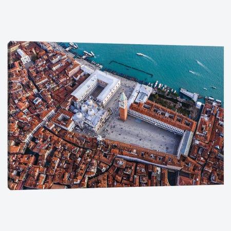 San Marco From Above, Venice Canvas Print #TEO1130} by Matteo Colombo Art Print
