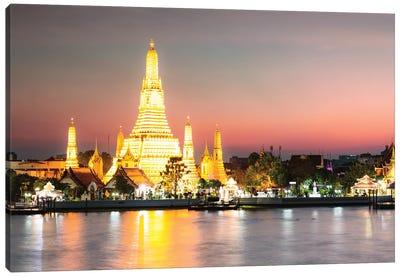 Temple Of Dawn, Bangkok Canvas Art Print