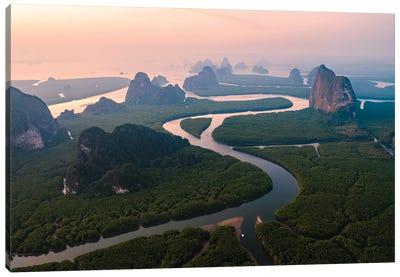 Sunrise Over The Bay, Thailand Canvas Art Print