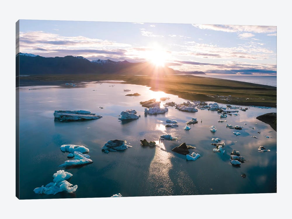 Aerial View Of Jokulsarlon Glacial Lake, Iceland by Matteo Colombo 1-piece Canvas Art Print