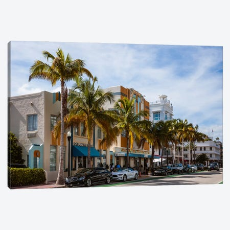 Ocean Drive, Miami I Canvas Print #TEO1142} by Matteo Colombo Canvas Art