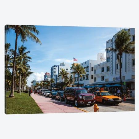 Ocean Drive, Miami II Canvas Print #TEO1143} by Matteo Colombo Canvas Artwork