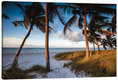 Key West Beach At Sunrise Canvas Art Print
