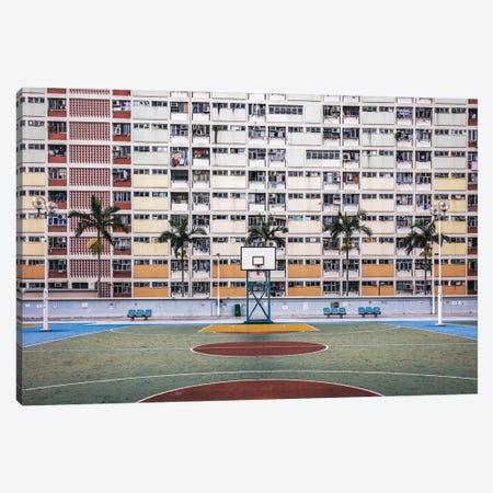 Basketball Court, Hong Kong Canvas Print #TEO1147} by Matteo Colombo Canvas Art Print