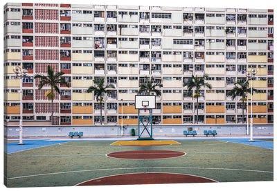 Basketball Court, Hong Kong Canvas Art Print