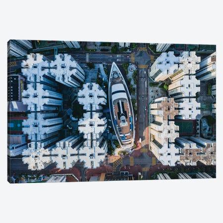 Urban Aerial, Hong Kong I Canvas Print #TEO1151} by Matteo Colombo Canvas Print
