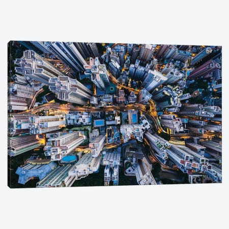 Urban Aerial, Hong Kong III Canvas Print #TEO1153} by Matteo Colombo Canvas Print
