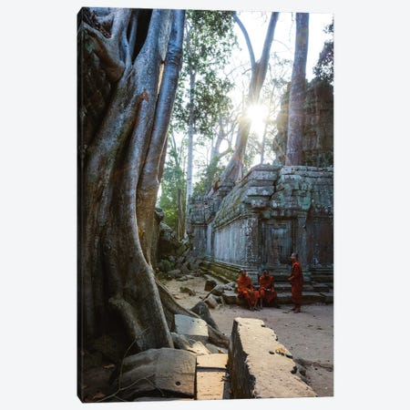 Monks, Angkor Wat, Cambodia Canvas Print #TEO1157} by Matteo Colombo Canvas Artwork