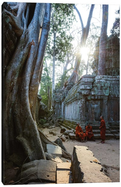 Monks, Angkor Wat, Cambodia Canvas Art Print