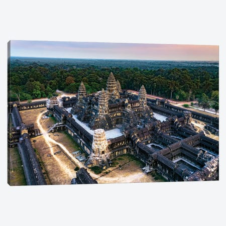 Sunset Over Angkor Wat I Canvas Print #TEO1161} by Matteo Colombo Canvas Wall Art