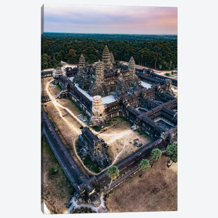 Sunset Over Angkor Wat II Canvas Print #TEO1162} by Matteo Colombo Canvas Wall Art
