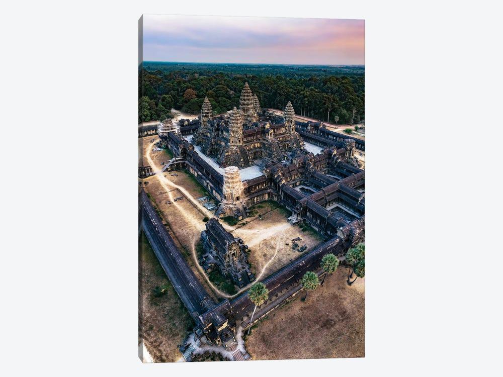 Sunset Over Angkor Wat II by Matteo Colombo 1-piece Canvas Wall Art
