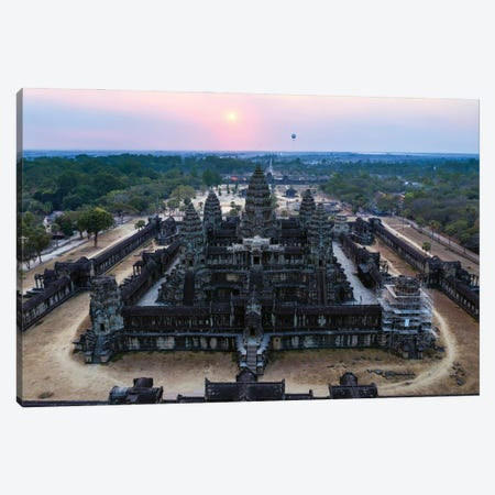 Sunset Over Angkor Wat III Canvas Print #TEO1163} by Matteo Colombo Canvas Art