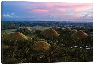 Chocolate Hills, Bohol Canvas Art Print