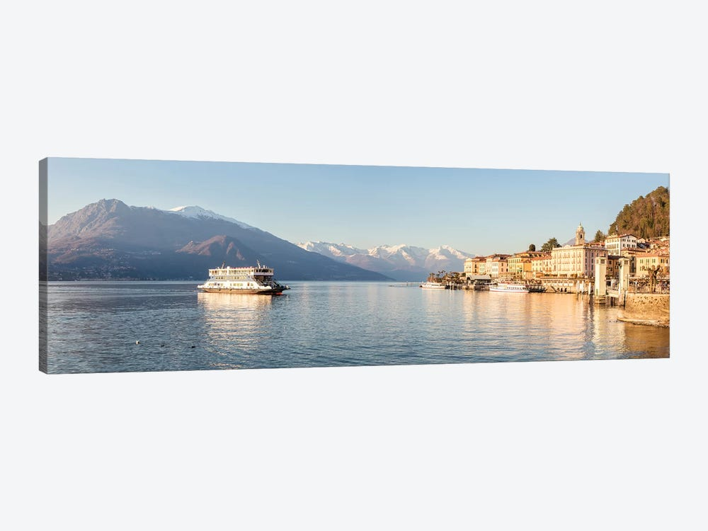 Bellagio Panoramic, Como Lake, Italy by Matteo Colombo 1-piece Canvas Print