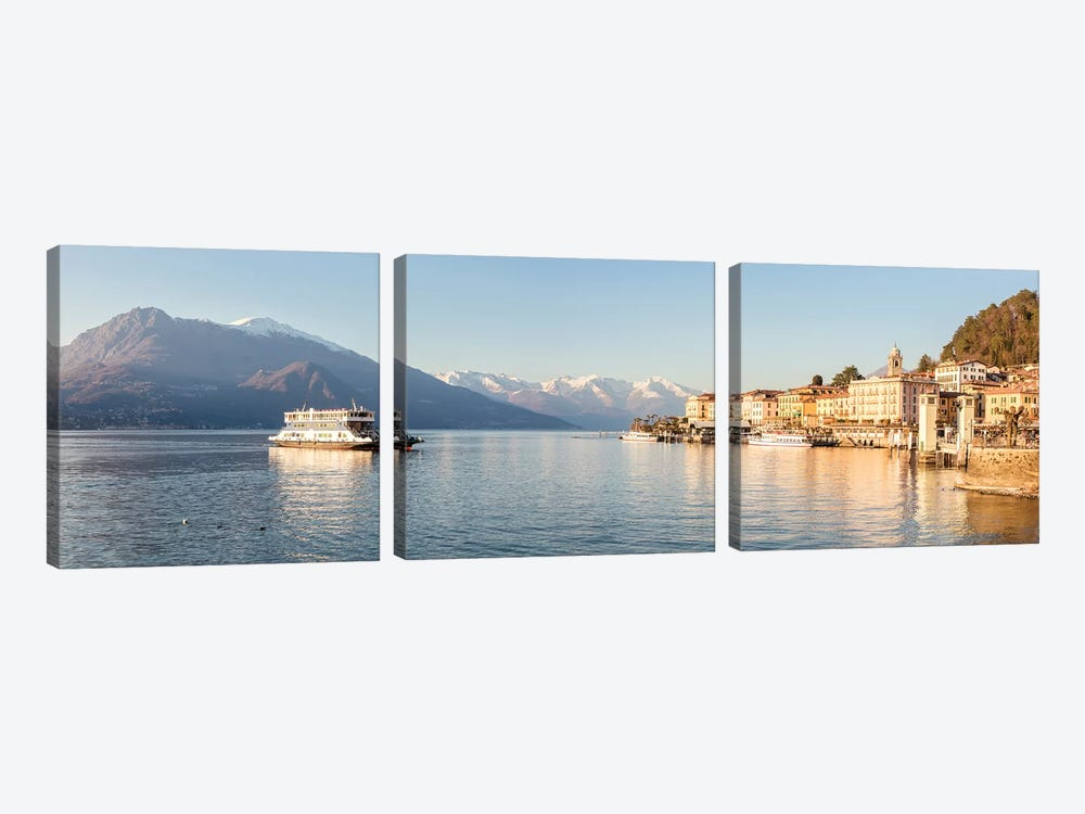 Bellagio Panoramic, Como Lake, Italy by Matteo Colombo 3-piece Art Print