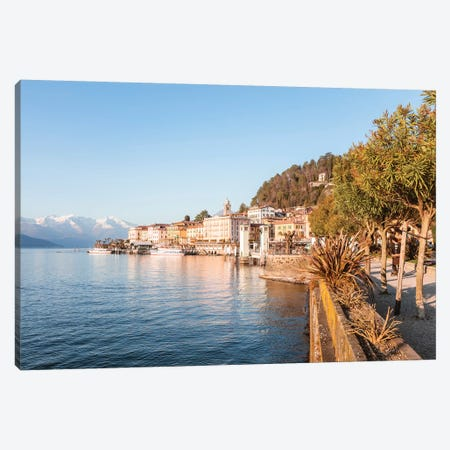 Bellagio Waterfront, Como Lake, Italy Canvas Print #TEO118} by Matteo Colombo Canvas Wall Art
