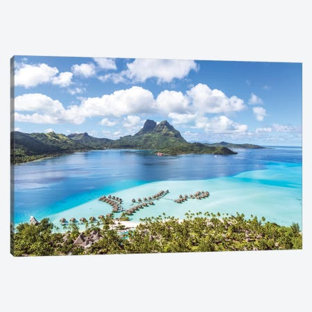 Bora Bora Island, French Polynesia I Canvas Print #TEO119} by Matteo Colombo Canvas Wall Art