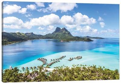 Bora Bora Island, French Polynesia I Canvas Art Print